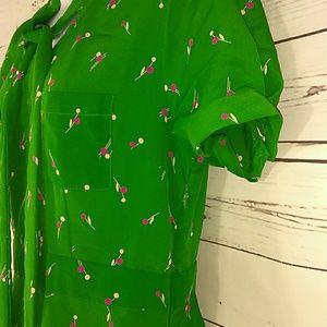 Forever 21 Dresses - Green short sleeve polyester dress size large